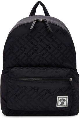 Versace Navy Greek Drawing Backpack