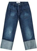 Loewe Distressed Turn-Up Jeans