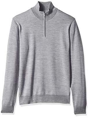 Goodthreads Men's Merino Wool Quarter Zip Sweater