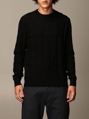 Emporio Armani Sweater In Checked Viscose Blend