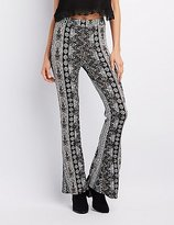 Charlotte Russe Printed Flare Pants