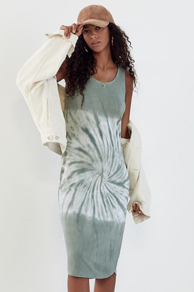 Anthropologie Aloe Tie-Dyed Midi Dress By in Green Size XS