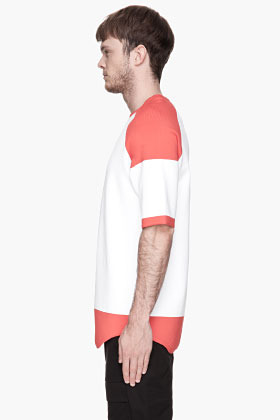 Alexander Wang White and red Raglan Baseball T-shirt