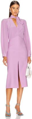 Givenchy Midi V Neck Dress in Purple | FWRD
