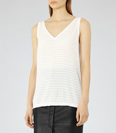 Reiss Lilienne Textured Tank Top