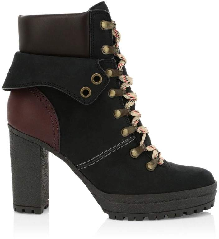 7019e1f17c4 Eileen Black Platform Hiking Boots