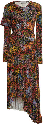 Preen by Thornton Bregazzi Ashley Floral-Print Stretch-Crepe Maxi Dres