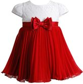 Youngland Girls 4-6x Crochet Pleated Bow Dress