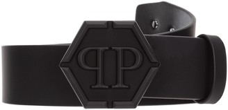 Philipp Plein Hexagon Logo Buckle Belt