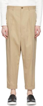 Comme des Garcons Homme Beige Cotton Chino Trousers