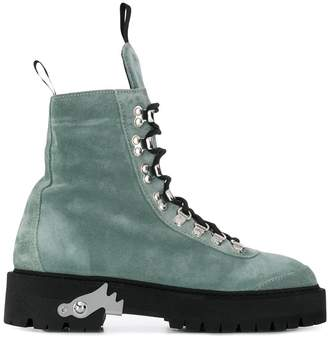 Off-White lace-up hiking boots
