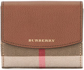 Burberry House check wallet - women - Cotton/Calf Leather/Polyamide - One Size