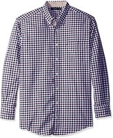 Nautica Men's Big and Tall Marine Check Shirt