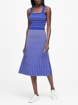 Banana Republic Square-Neck Knit Midi Dress