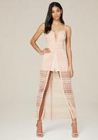 Bebe Macrame Shorts Maxi Dress