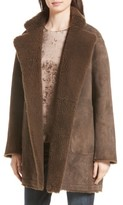 Vince Women's Reversible Teddy Genuine Shearling Coat