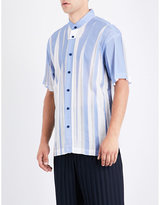 Issey Miyake Wrinkle Pleated Short-sleeved Shirt