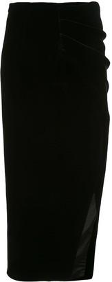 Rasario Draped Velvet Skirt