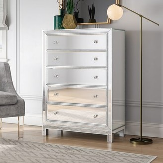Willa Arlo Interiors Tracey 5 Drawer Mirrored Accent Chest