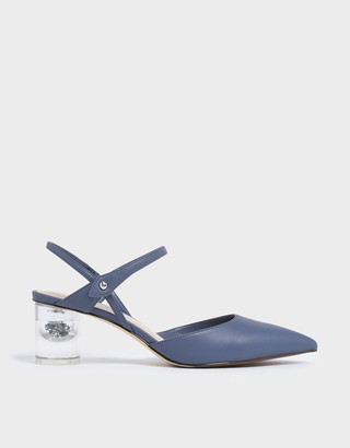 Charles & Keith Pointed Toe Lucite Heel Cylindrical Pumps