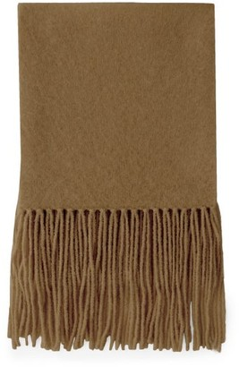 Joseph Alpaca-blend Fringed Scarf - Camel