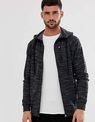 ONLY & SONS zip-up hoodie with chest pocket-Gray