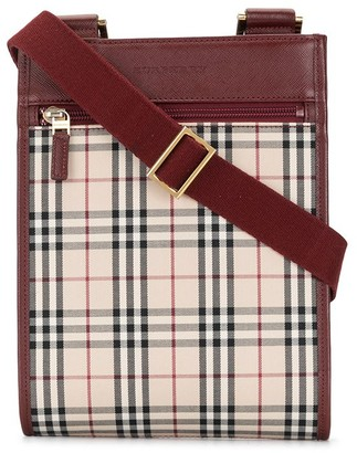 Burberry Pre-Owned Check Pattern Crossbody Bag