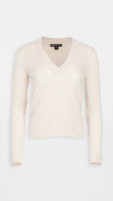 James Perse Cashmere Shrunken Deep V Sweater