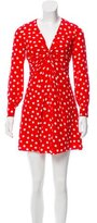 Saint Laurent Spring 2015 Silk Polka Dot Dress