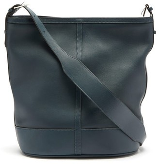Hunting Season Hobo Leather Tote Bag - Dark Blue
