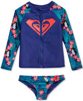 Roxy 2-Pc. Tropical Toucan Rashguard Set, Little Girls (2-6X)