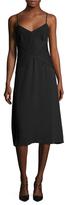 Tracy Reese Pintuck Slip Midi Dress