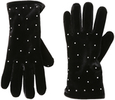Cejon Black Velvet Rhinestone-Accent Glove