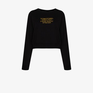 Tom Ford Logo Print Cropped Sweatshirt