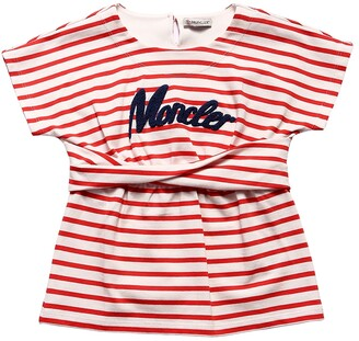 Moncler Striped Cotton Interlock T-Shirt