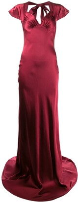 Katharine Hamnett Lake silk satin long dress