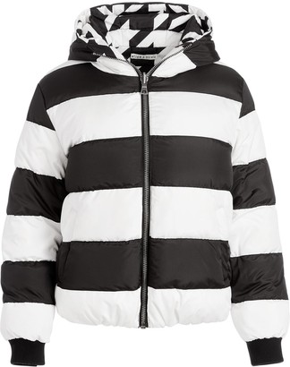 Alice + Olivia Durham reversible patterned puffer jacket