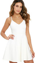 LuLu*s Meet Cute White Skater Dress