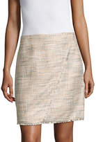 Ivanka Trump Asymmetric Tweed Mini Skirt