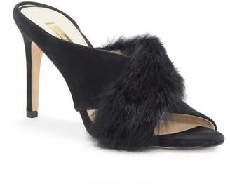 Louise et Cie Halloway Genuine Rabbit Fur Sandal