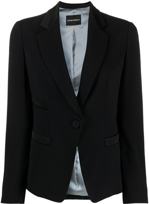 Emporio Armani Single-Breasted Tailored Jacket