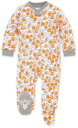 Burt's Bees Pumpkin Patch Organic Baby Loose Fit Footed Halloween Pajamas