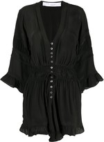 IRO Silk Button-Up Playsuit