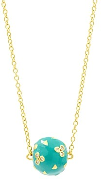 Freida Rothman Harmony Ball Pendant Necklace in 14K Gold-Plated Sterling Silver