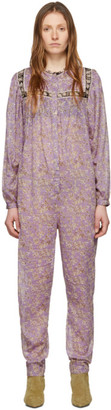 Etoile Isabel Marant Purple Vasco Jumpsuit