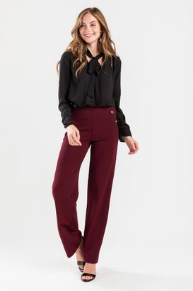 francesca's Carrie Wide Leg Pants - Navy