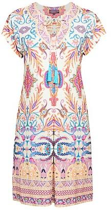 Hale Bob Tassel Print Sheath Dress