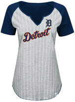 Majestic Women's Detroit Tigers From The Stretch Pinstripe T-Shirt