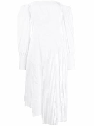 Each X Other Asymmetric Pleated Detail Dress