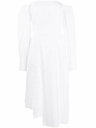 Each X Other Asymmetric Pleated Detail Dress